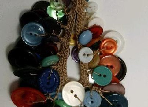 Vintage Whimsical Button Necklace