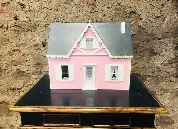 Handmade Pink Dollhouse
