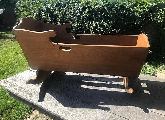 Wooden Cradle Vintage