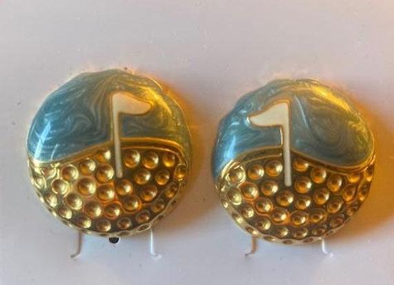 Golf-Motif Post-style Earrings