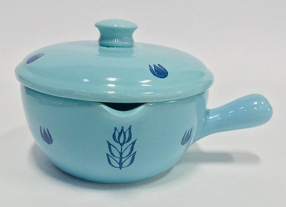 VintageCronin Blue Tulip Bean Pot with Handle