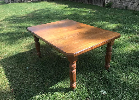 Victorian Oak Wind Out Dining Table
