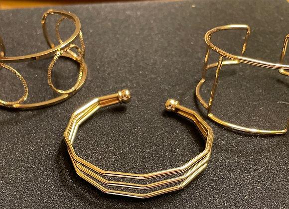 Set of Three Cuff Bracelets
