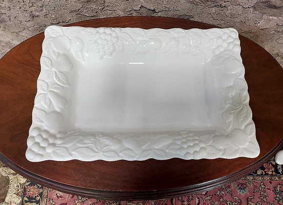 Large White Ceramic Platter