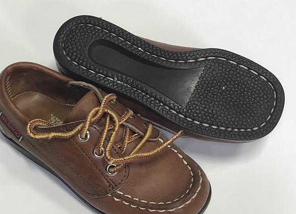Sebago Campsides Brown leather Size 8 1/2 toddler