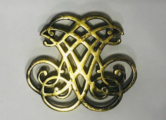 Thomas Jefferson Ciper Brass Trivet