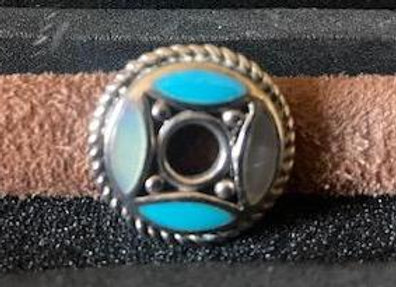 Silver and Turquoise Medallion