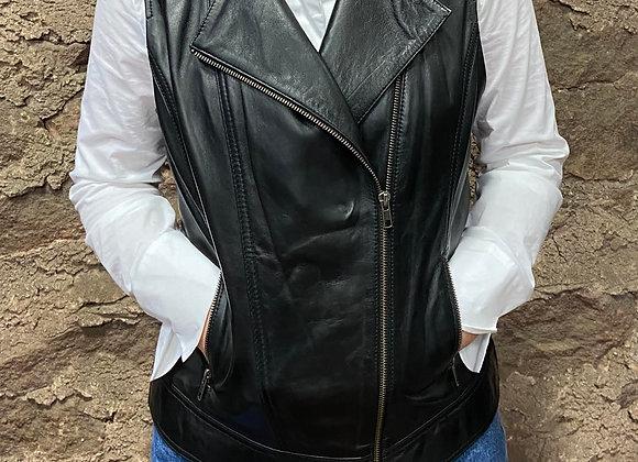 Black Leather Vest