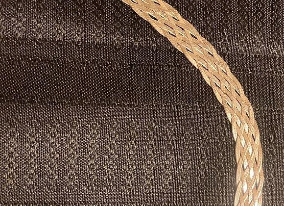 Sterling Silver Multi-row Braided Herringbone Link Bracelet