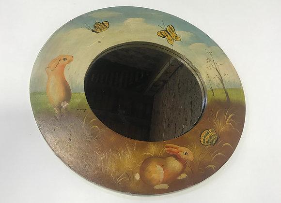 Children's Hand Painted Oval Mirror
