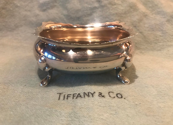 Vintage Tiffany Sterling Silver Open Salt