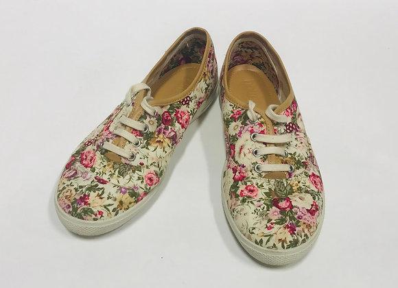 Hotter Floral Canvas Shoes Women's Size 6.5