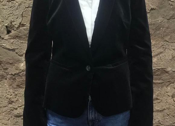 Puff Shouldered Velvet Jacket