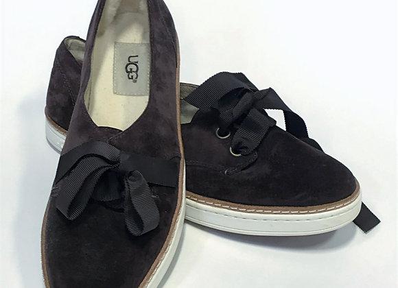 Ugg Sneaker Flat Dark Brown Suede Size 8