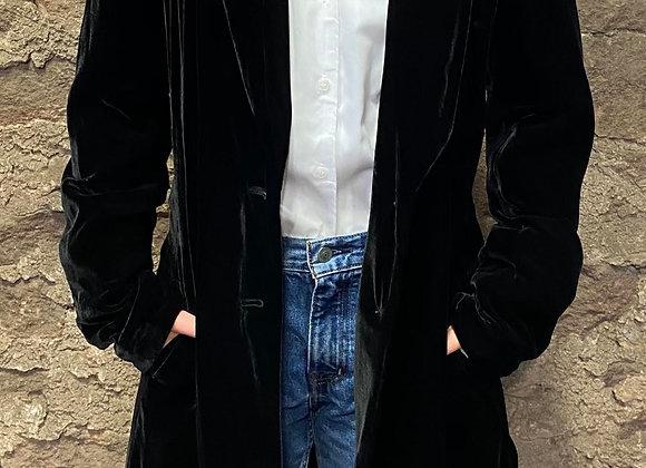 Velvet Jacket with Shawl Collar