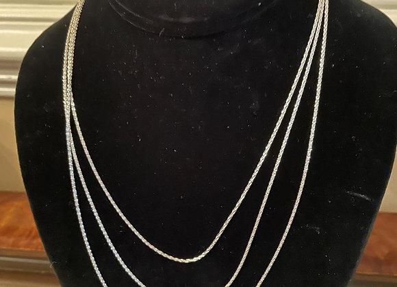 Sterling Silver Diamond Cut Criss Cross Link Chains