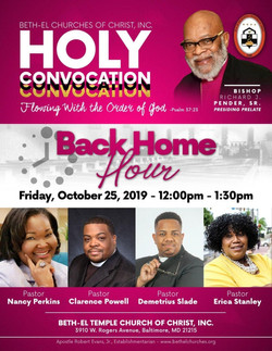 Holy Convocation Back Home Hour