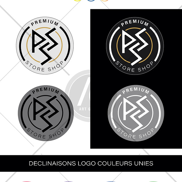 Réalisation du logo Premium Store Shop