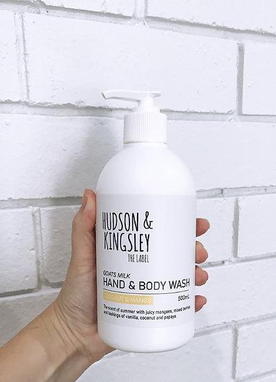 Goats Milk Hand & Body Wash Coconut & Mango - 500ml