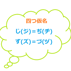 The difference between じ(ジ), ぢ(ヂ), ず(ズ), づ(ヅ)
