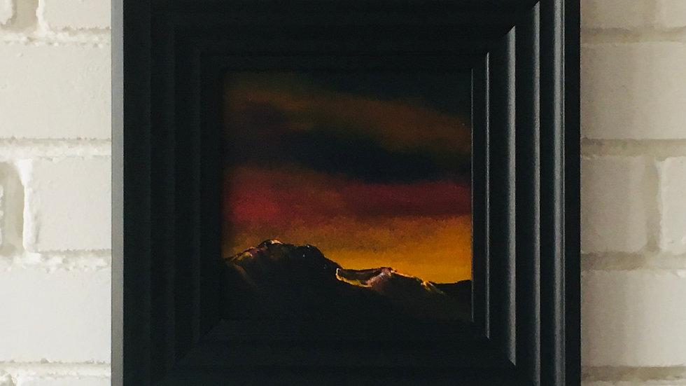 Fading light over the Black Cuillin - Skye