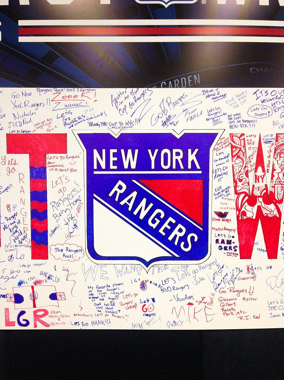 brandoncruzart nyr hockey house nyr hockey house fan wall