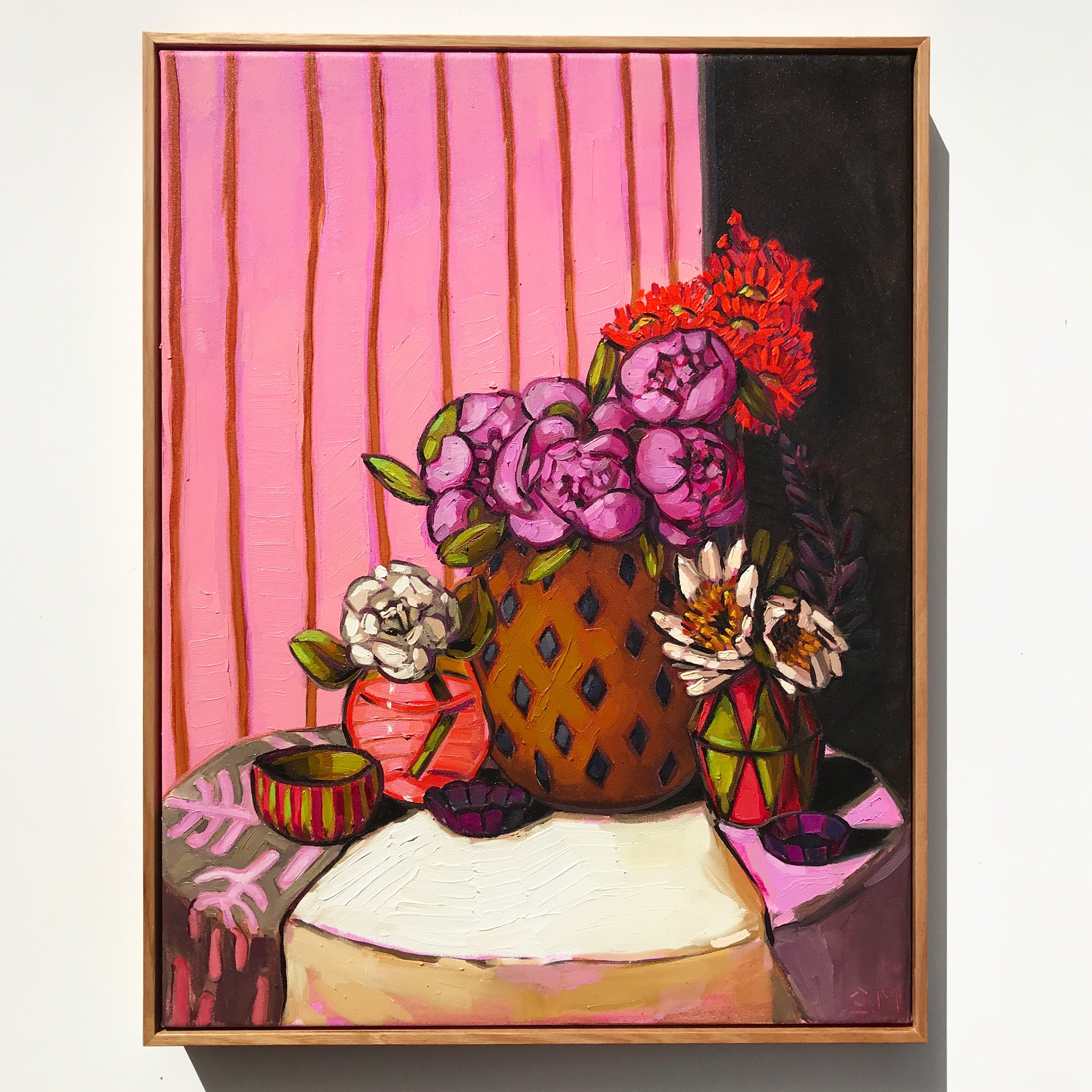Sam Michelle' Peonies, Flowering Gum & W