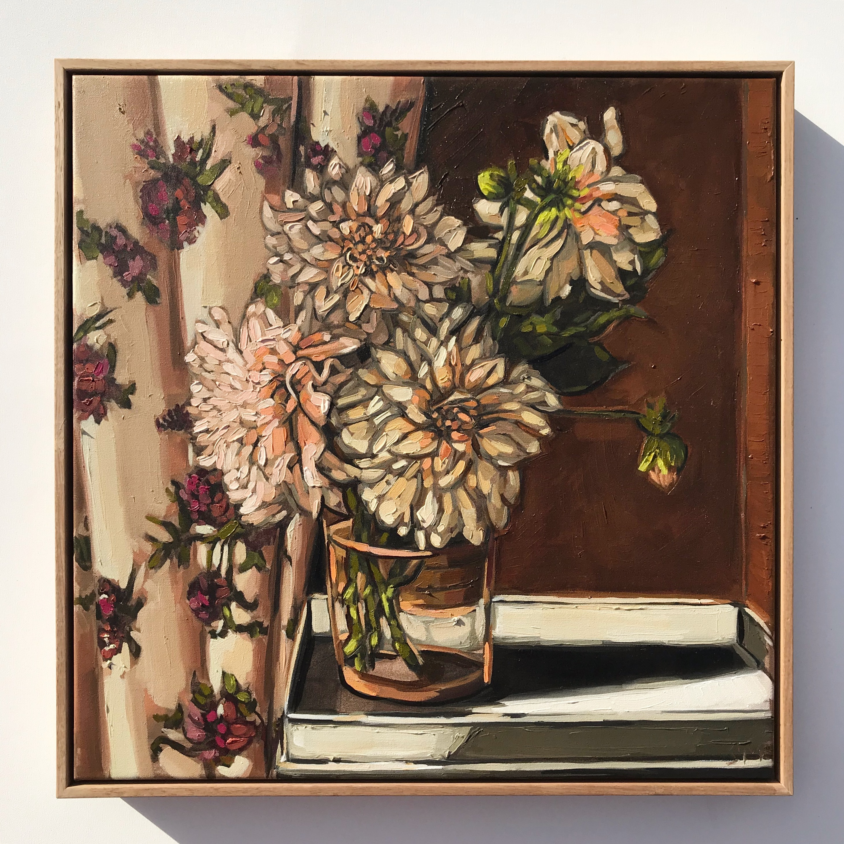 Sam Michelle 'Spring Cafe Dahlias' 53x53