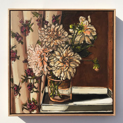 Sam Michelle 'Spring Cafe Dahlias' 53x53