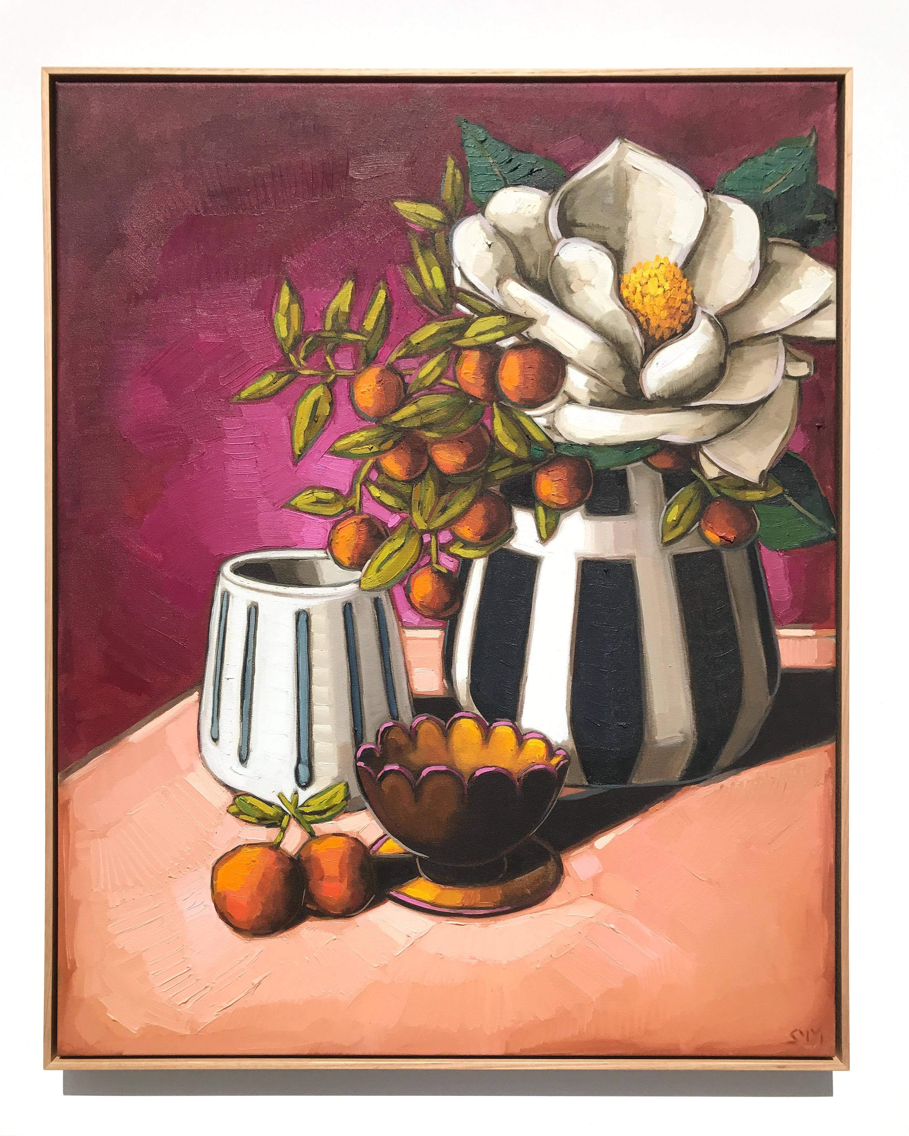 12_17 EMPEREUR 'Magnolia & Mini Cumquats' 103x83cm $2,995