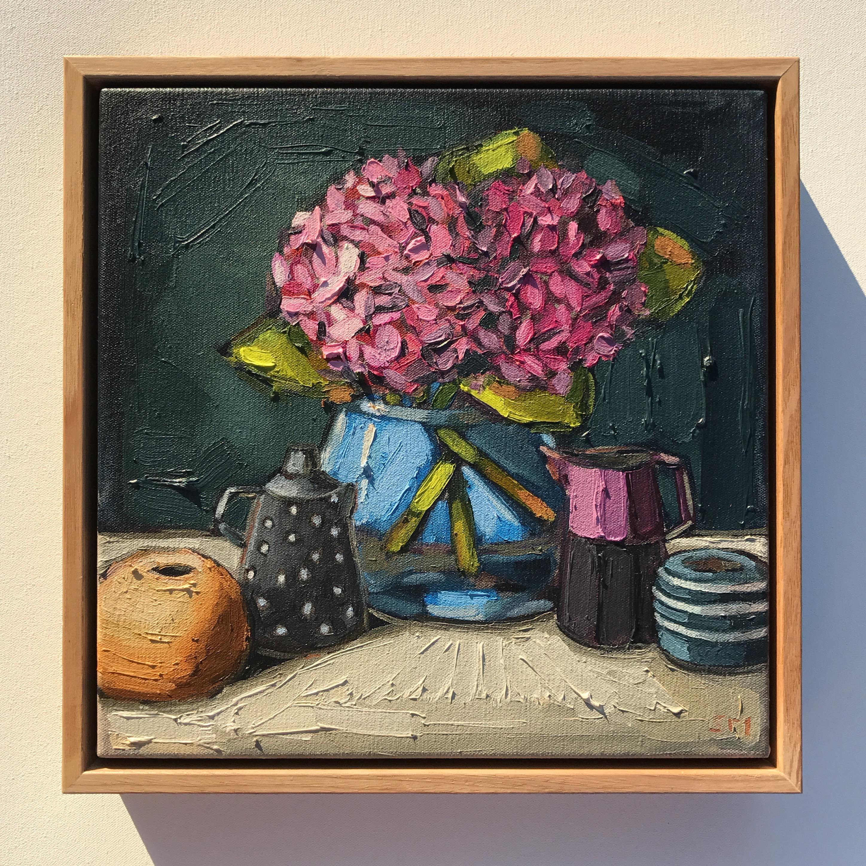 12_16 'Pink Hydrangeas' 33x33cm
