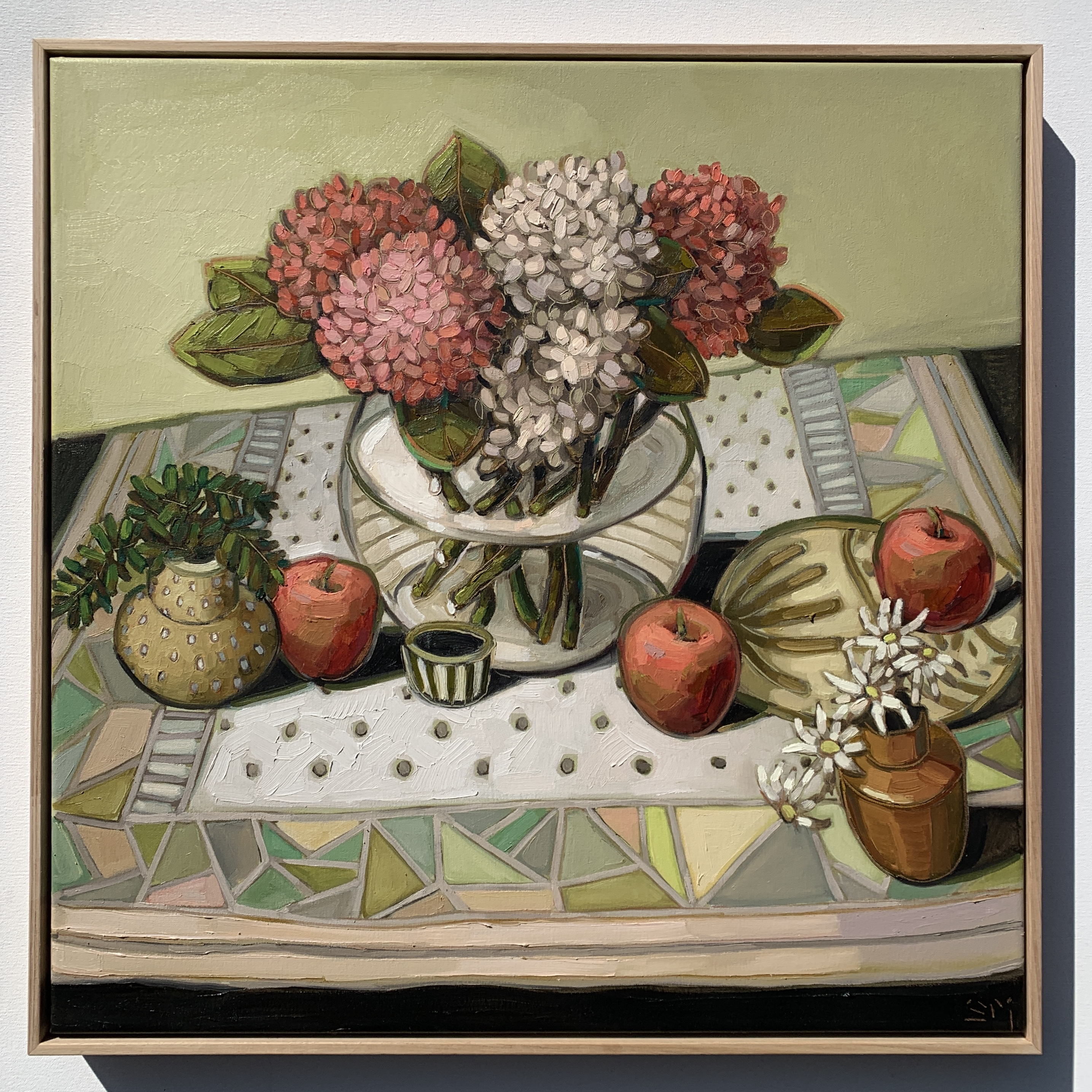sam michelle 'hydrangeas, apples & flann