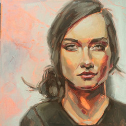 Finished my quick colour study of the beautiful Laura Wells