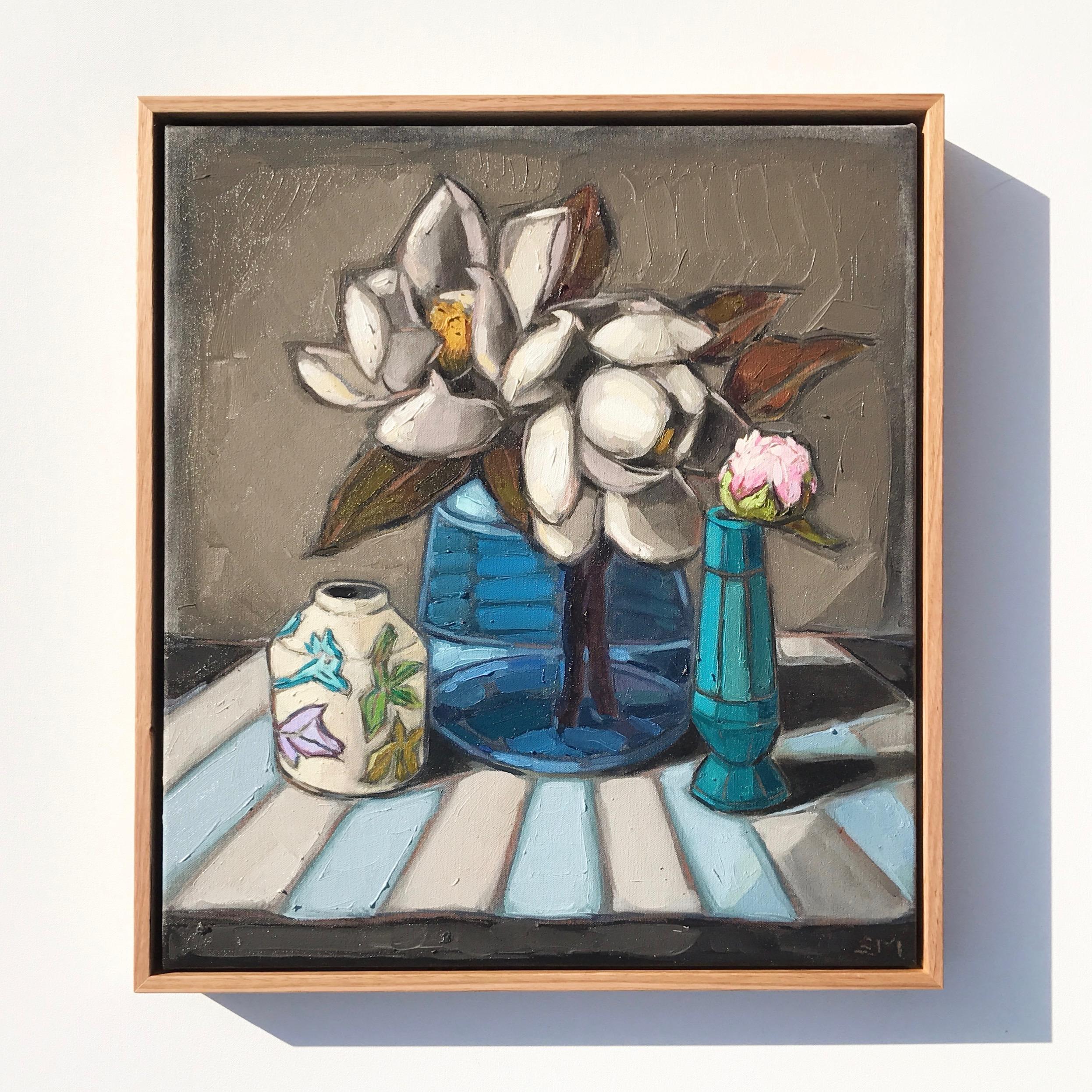 06_17 Magnolias & Peony Bud 51x46cm $895