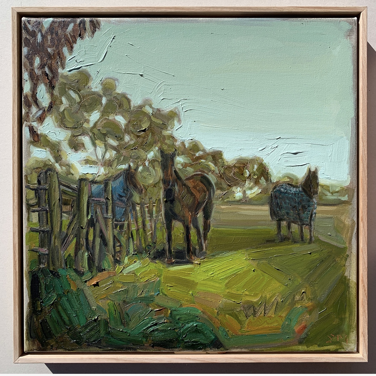 sam michelle 'country gate' 48x48cm 2019
