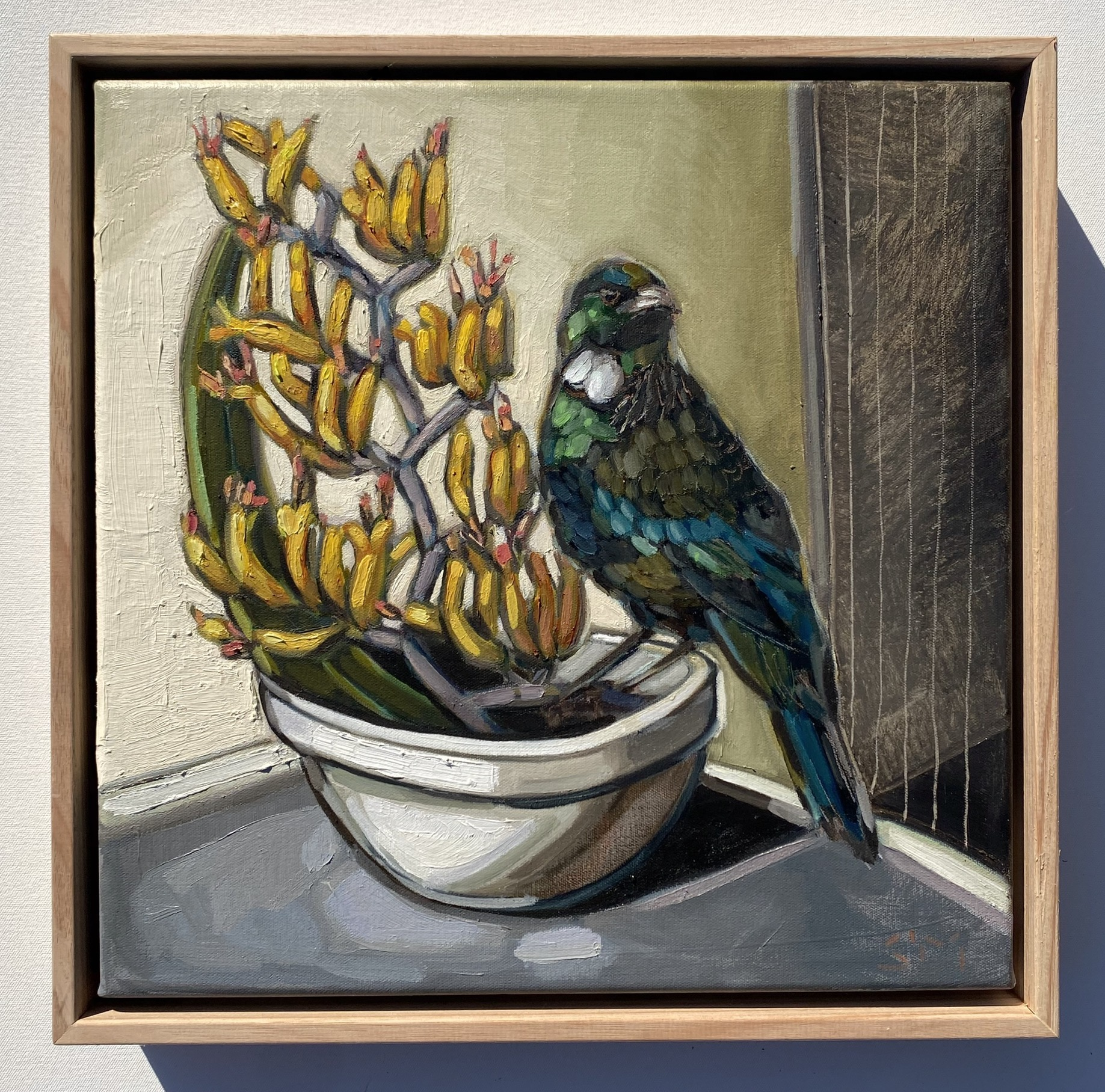 sam michelle 'the tui & flax' 33x33cm