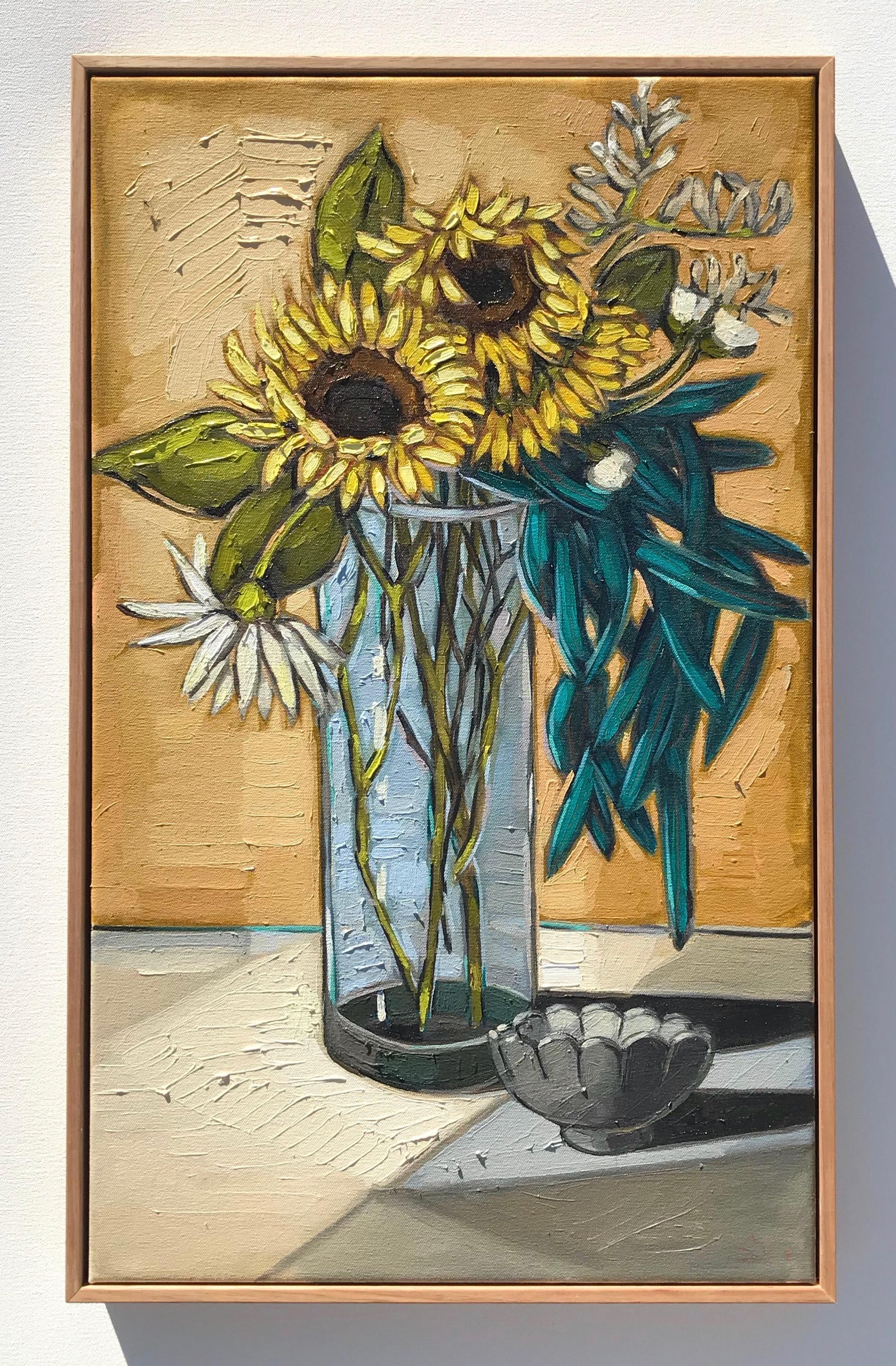 'Summer Sunflowers' 65x40cm