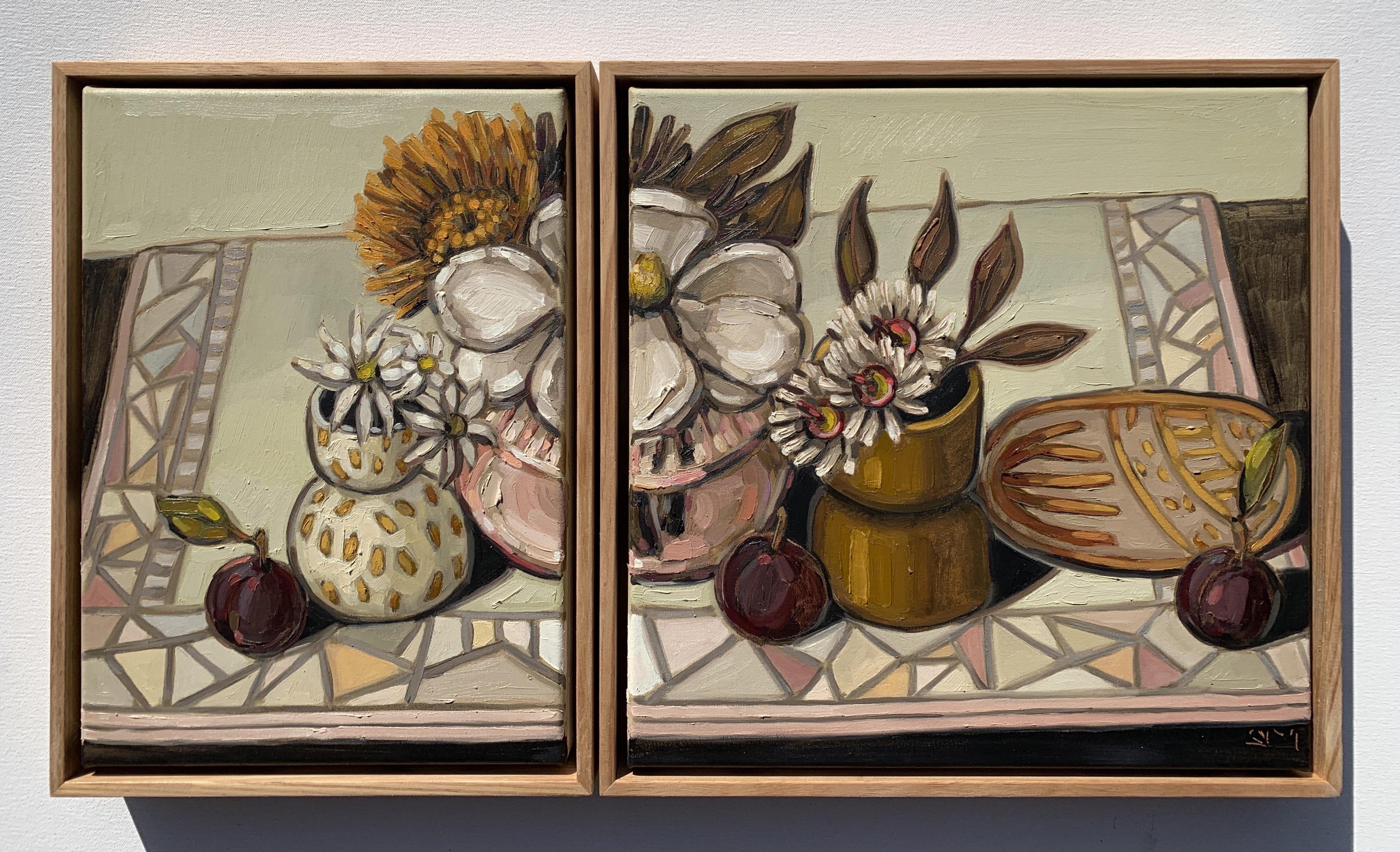sam michelle 'magnolia & pink vase' dipt