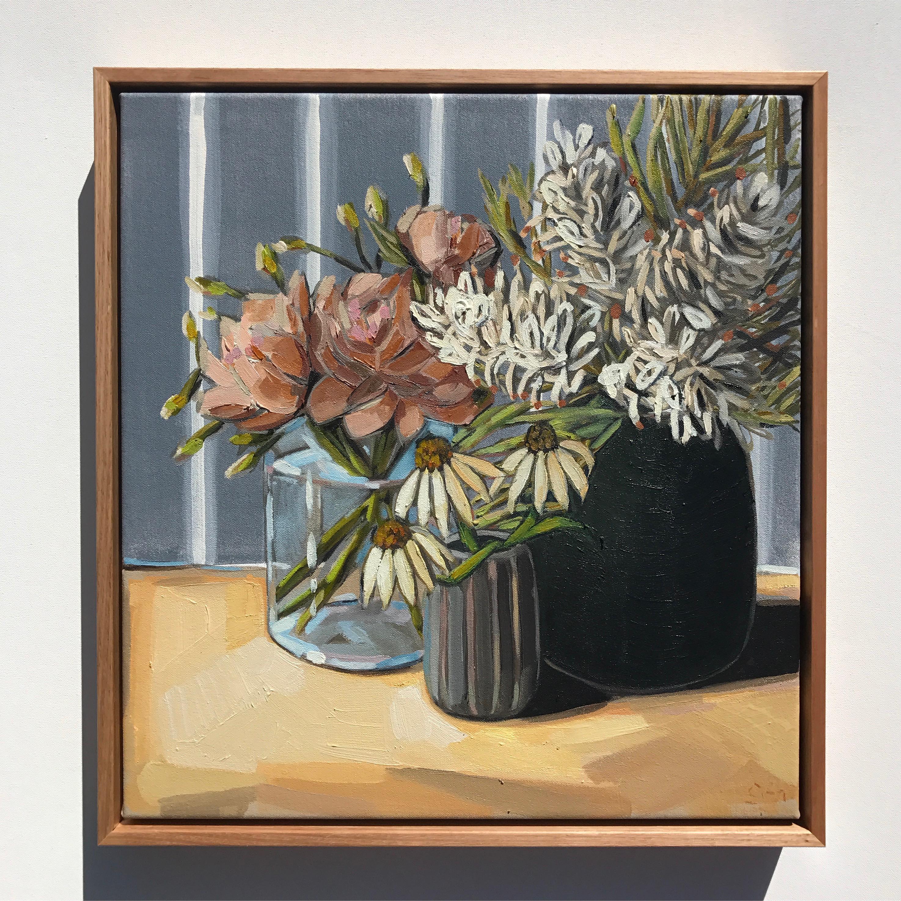 02_17 'Grevilleas & Echinacea' 48x45cm $845