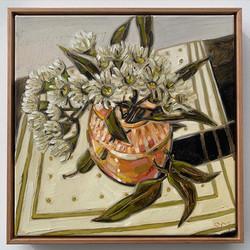 sam michelle 'blossoms & peach vase' 43x