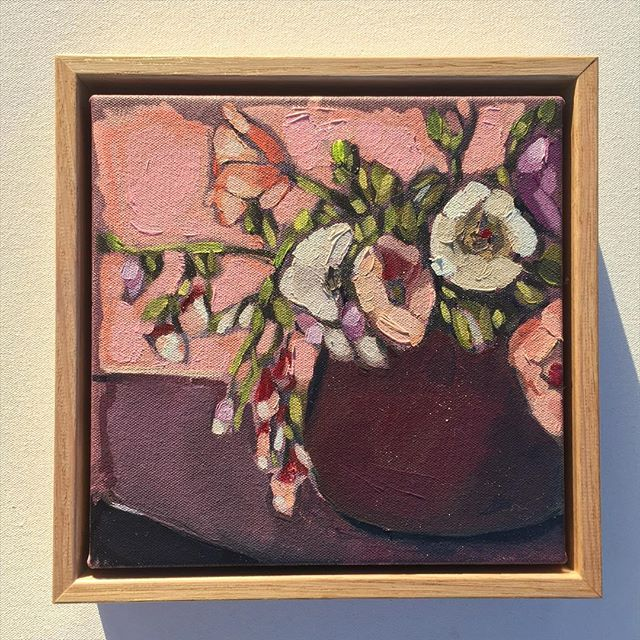 Instagram - 'Pink Series' (38x43, 23x23, 23x23cm) Oil on canvas. Price all 3 works $995- (includes f