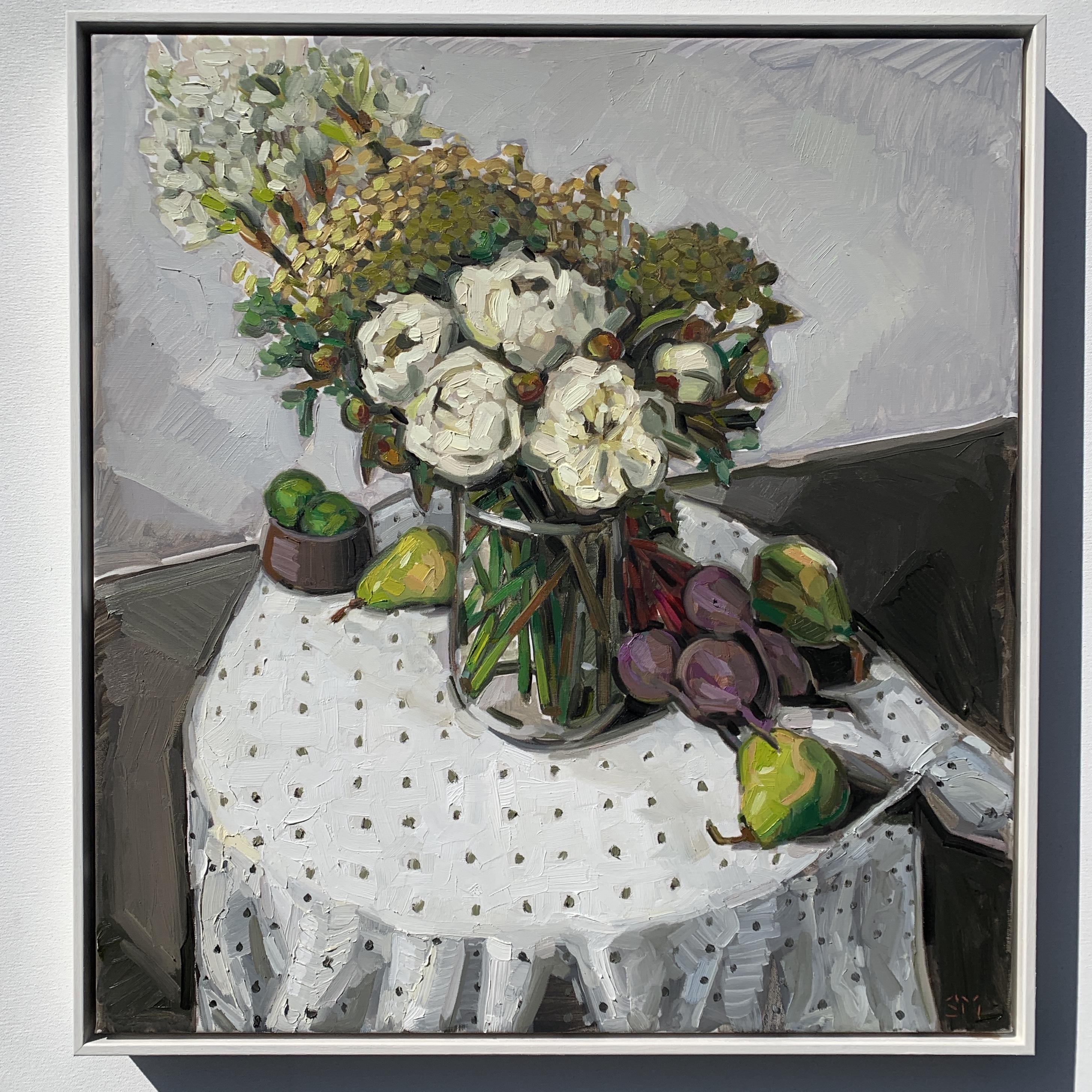 sam michelle 'peony bouquet' 69x64cm 202