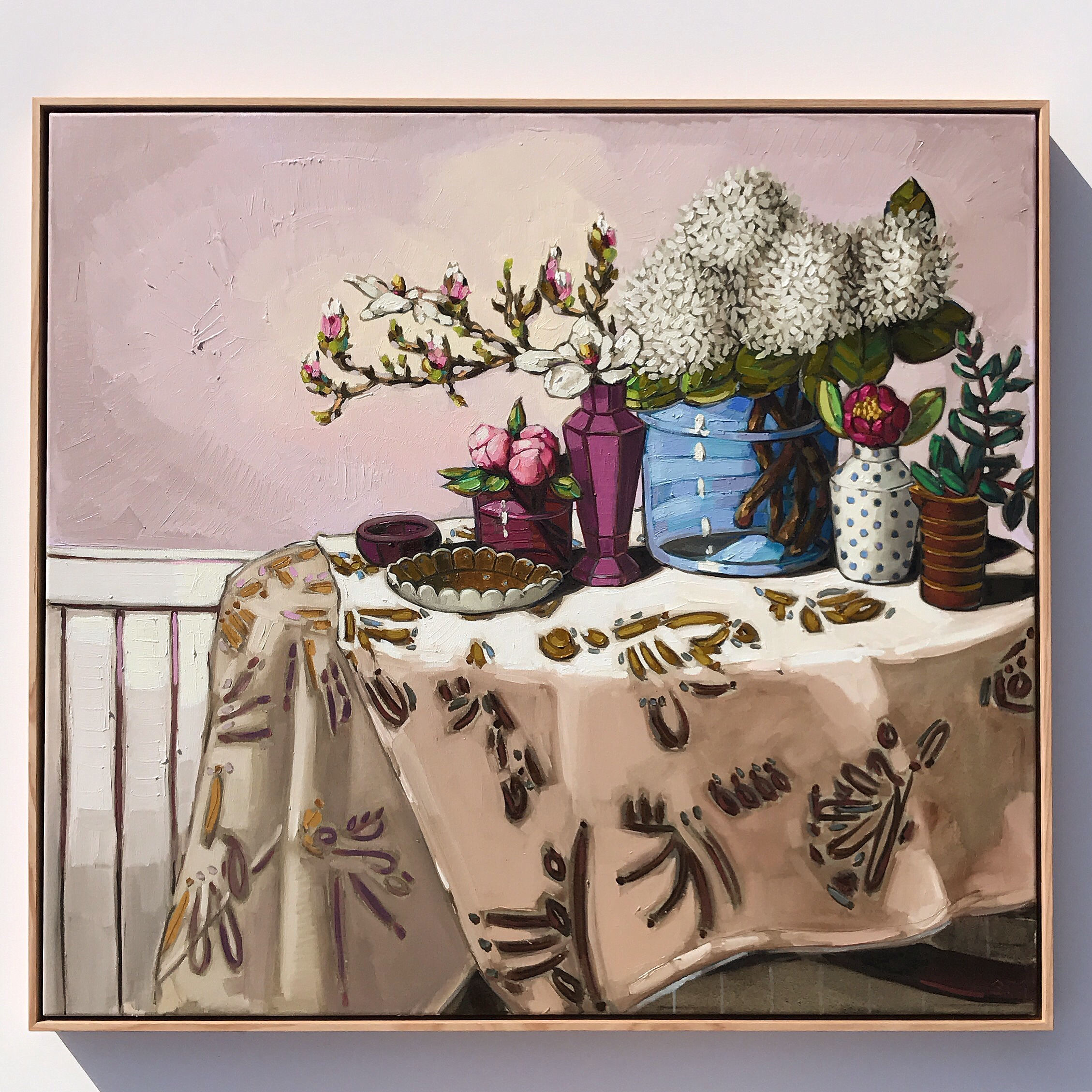 07_17 'Cloth, Both 1Sides, Dining Table'  103x113cm $2,995