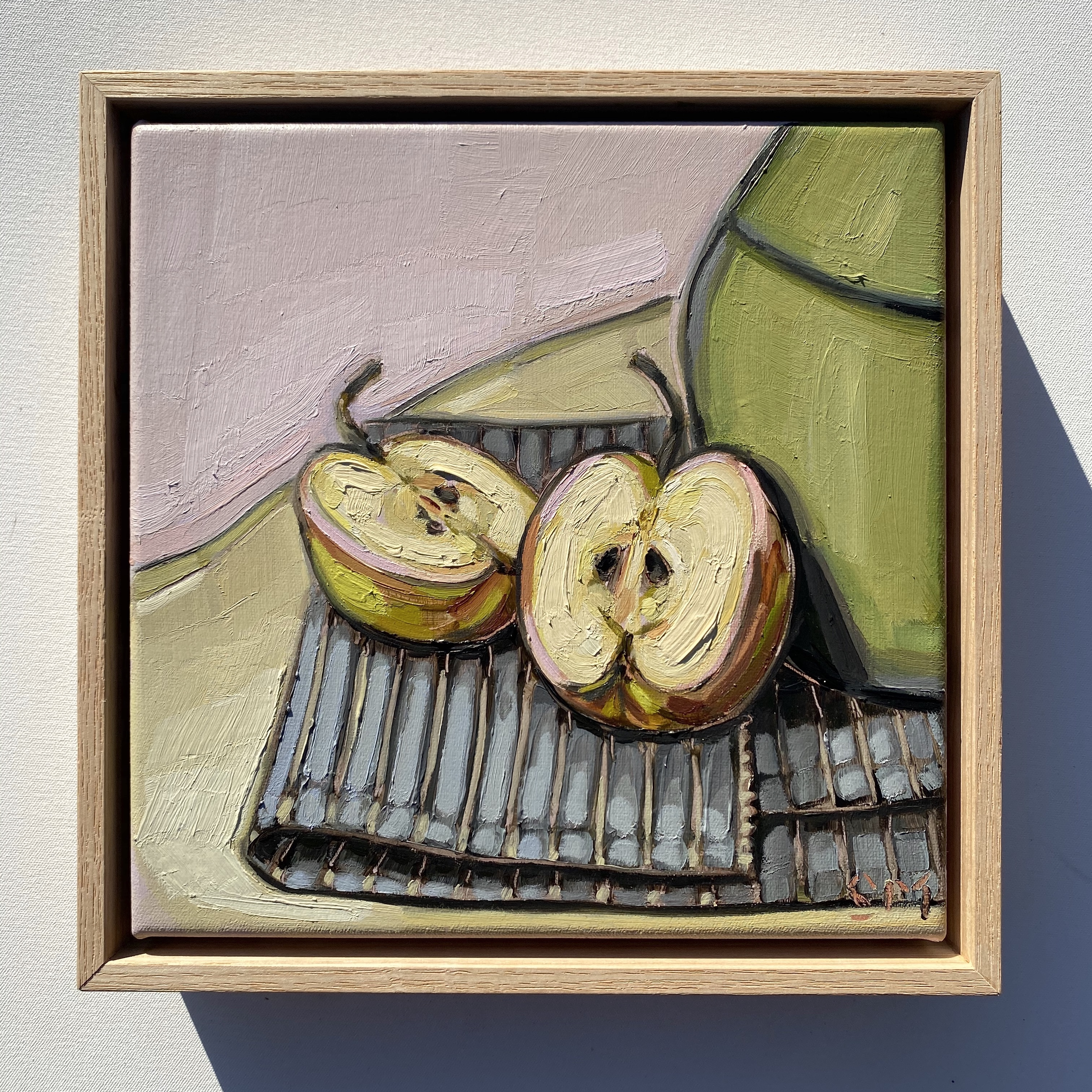 sam michelle 'apples' 25x25cm 2020