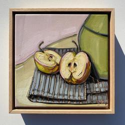 sam michelle 'apples' 25x25cm 2020