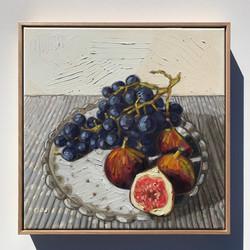 'Grapes & Figs' 47x47cm