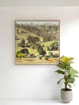sam michelle 'gippsland landscape' 104x104cm $6,350 2020 (in situ)