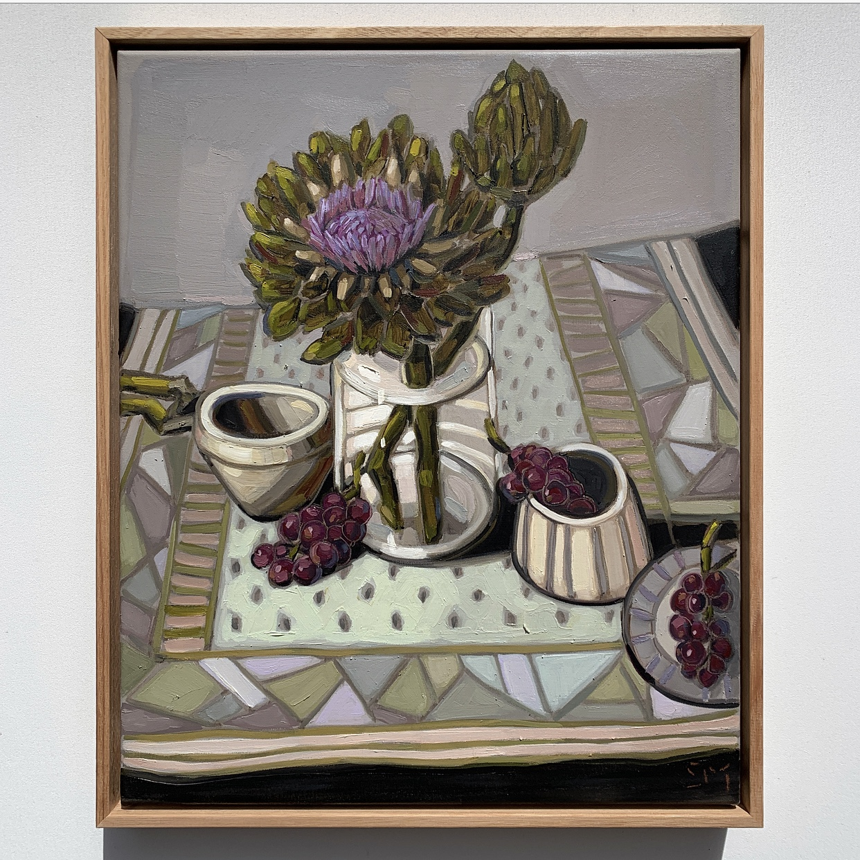 sam michelle 'artichokes & grapes' 48x40