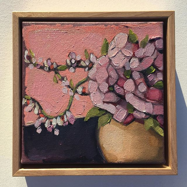 Instagram - 'Pink Series' (38x43, 23x33, 23x23cm) Oil on canvas. Price all 3 works $995- (includes f