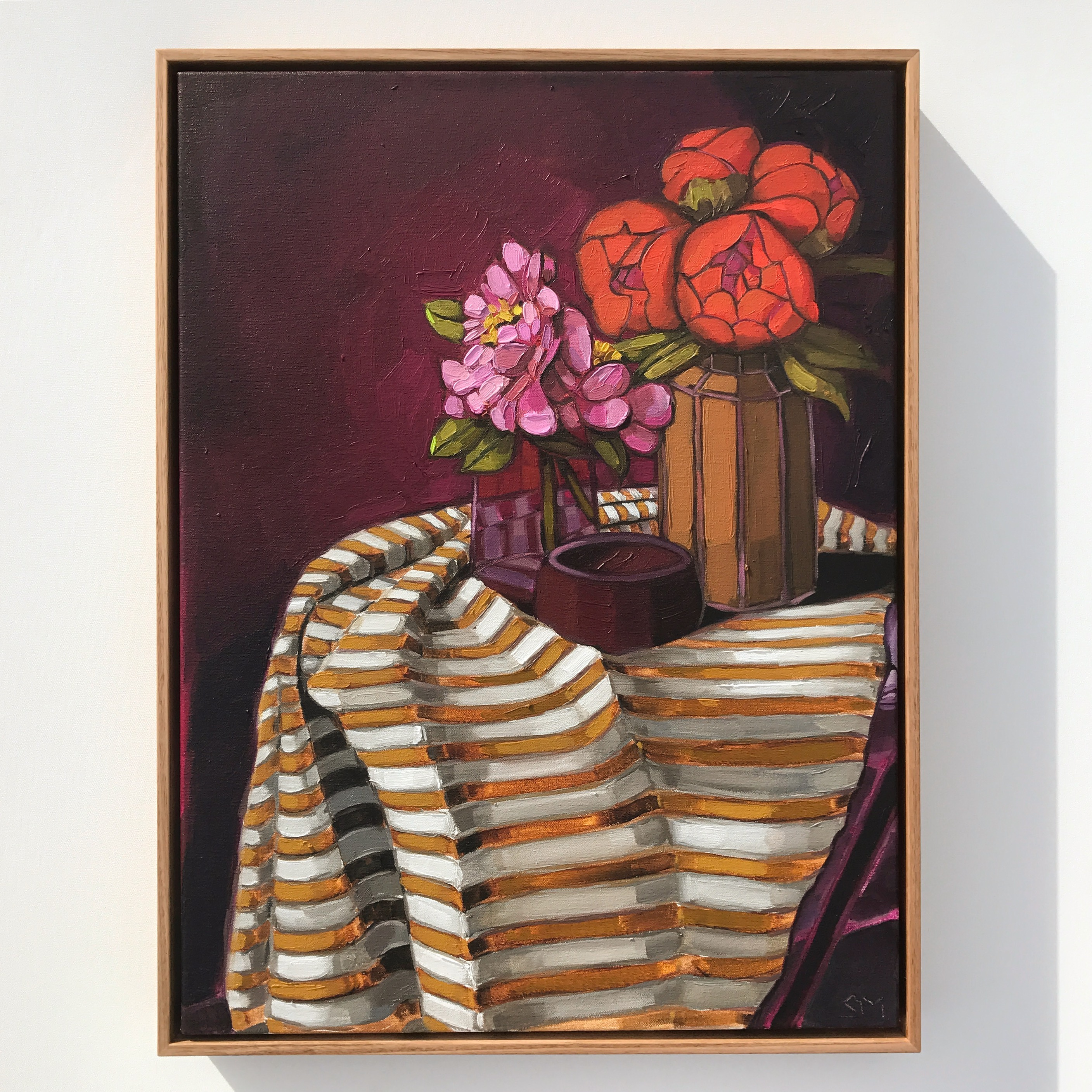 08_17 The Cloth Collection 'Burgundy & Cloth' 63x48cm$1,995